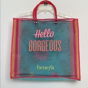 Benefit Hello Gorgeous Mesh Tote Bag.
